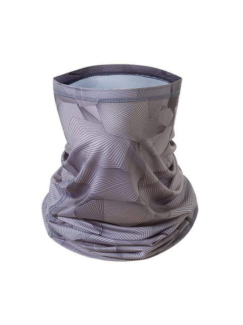 Color=Deep Grey | Floral Printed Protective Outdoors Neck Gaiter For Adult-Deep Grey 1