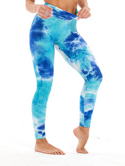Color=Sky Blue | Fashion High Waist Tie-Dye Yoga Leggings For Women-Sky Blue 3
