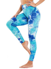 Color=Sky Blue | Fashion High Waist Tie-Dye Yoga Leggings For Women-Sky Blue 1