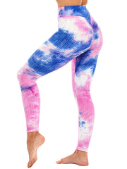 Color=Dusty Navy | Fashion High Waist Tie-Dye Yoga Leggings For Women-Dusty Navy 3