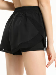 Color=Black | Women'S Loose Elastic Waist Quick-Drying Sports Shorts-Black 1