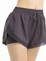 Color=Purple | Women'S Loose Elastic Waist Quick-Drying Sports Shorts-Purple 2