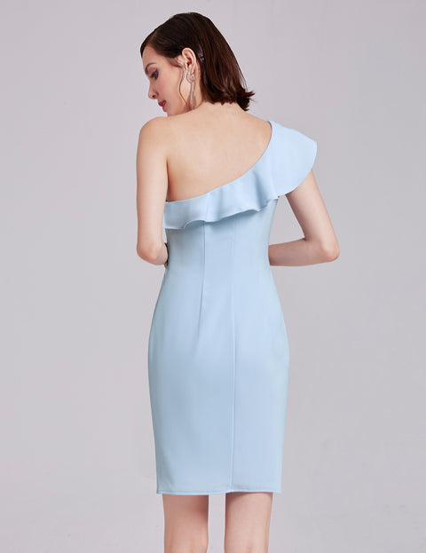 Ever-Pretty One Shoulder Ruffles Cocktail Dress EP05923