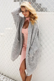 Casual Knitted Long Loose Knitted Cardigan Sweater for Women