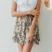 Women's High Waist Chiffon Casual Summer Beach Mini Skirt