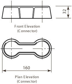 Connector Piece (2 required per section)