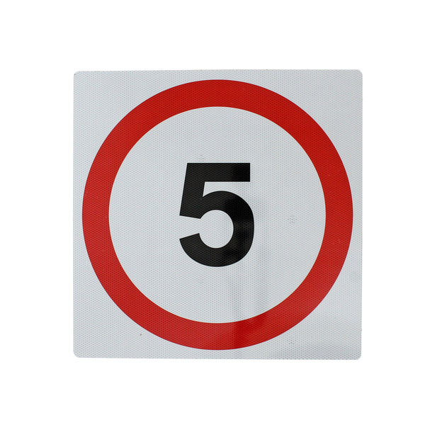 5mph wall mount sign 300x300mm