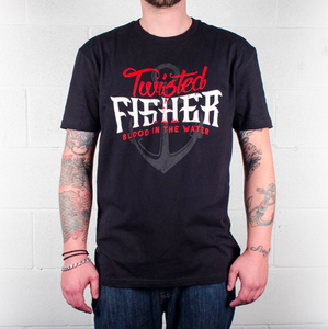 Mens Blood In The Water Black Line Tee - S - P