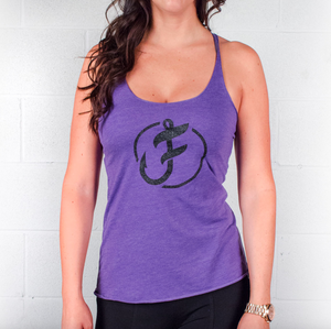 Ladies Iconic Line Logo Glitter Tank - S / Purple - P