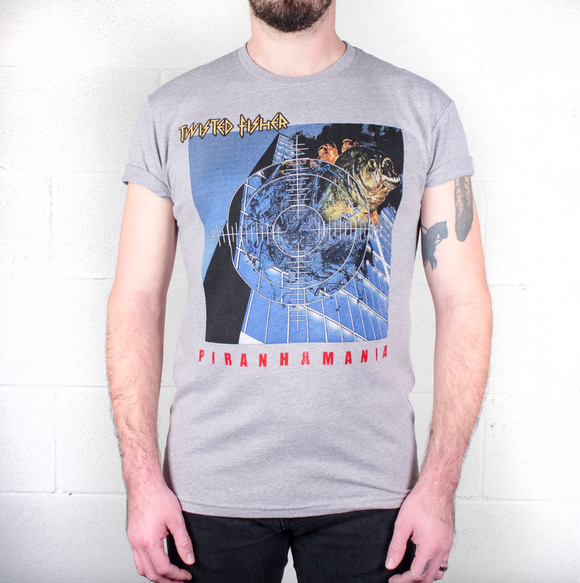 Mens Pirahnamania Tribute Line Tee - S - P