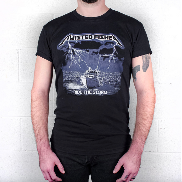 Mens Twistallica: Ride The Storm Tribute Line Tee - S - P