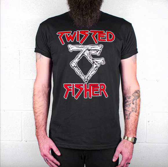 Mens Twisted Bone Tribute Line Tee - S - P