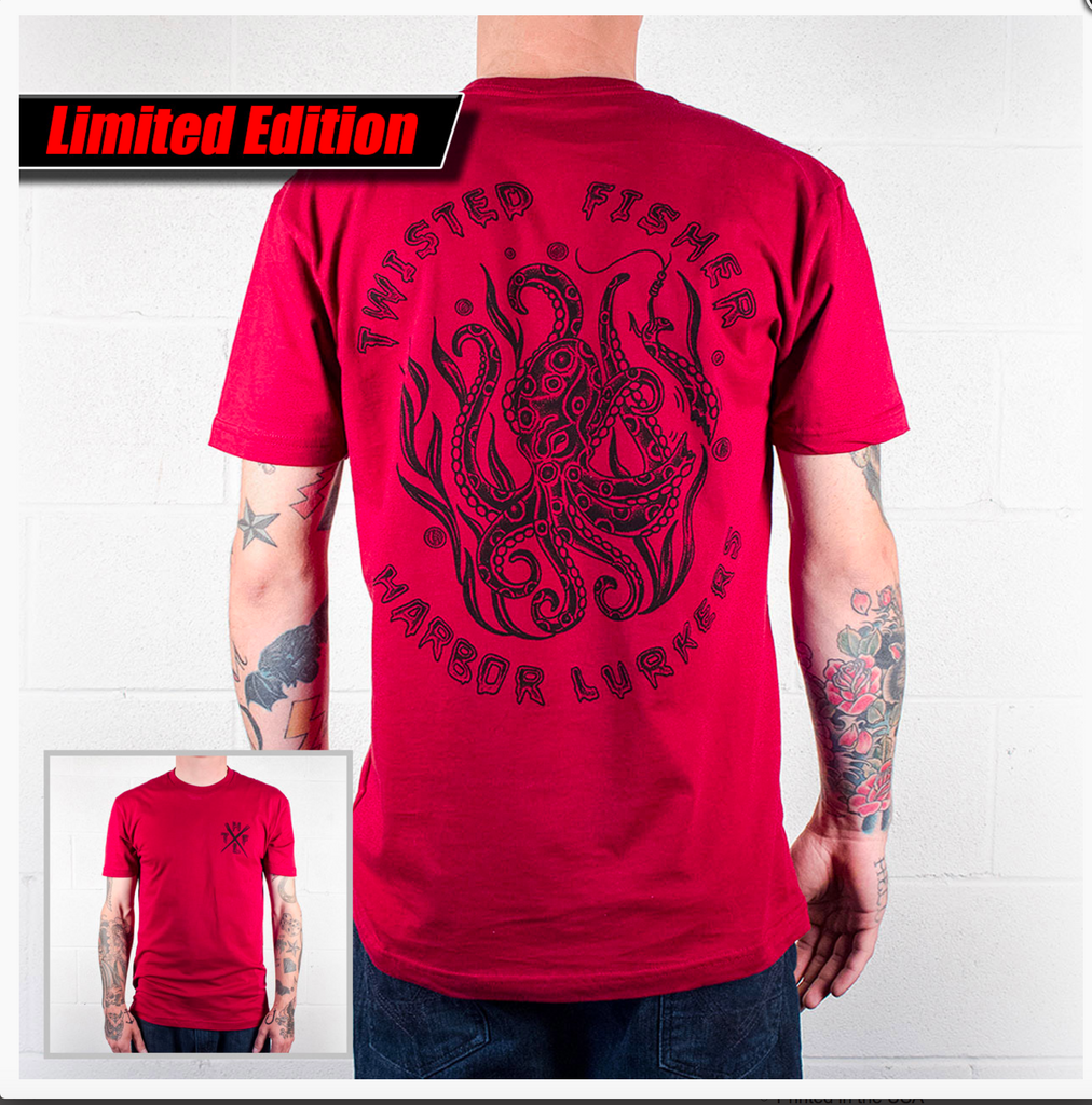 Mens Harbor Lurkers Artist Line Tee - S / Red - P