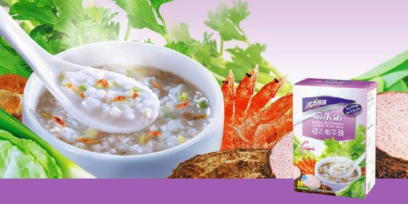 Taro & Shrimp brown rice porridge 櫻花蝦芋頭糙米粥