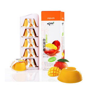 Jeagueijih Fresh Juice Pudding Mango Flavor吃果籽 35%鮮果汁果凍(芒果口味)