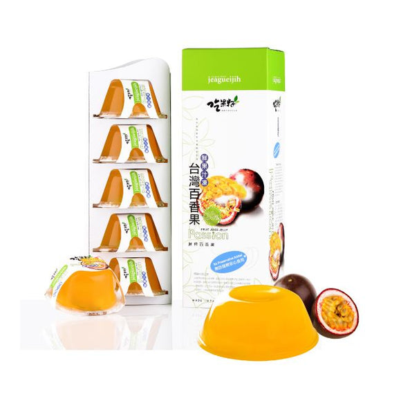 Jeagueijih Fresh Juice Jelly Passion Flavor吃果籽 35%鮮果汁果凍(百香果口味)