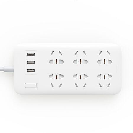 XiaoMi 6 Hole Socket Power Strip 米家6位插線板 - seekit@brisbane
