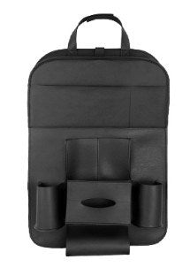 Car Chair Back Hanging Bag BK PG-02 汽車收納皮革椅掛袋PG-02黑色 - seekit@brisbane