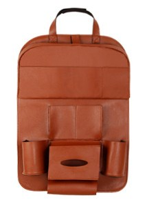 Car Chair Back Hanging Bag orange PG-02汽車收納皮革椅掛袋PG-02 橘棕色 - seekit@brisbane