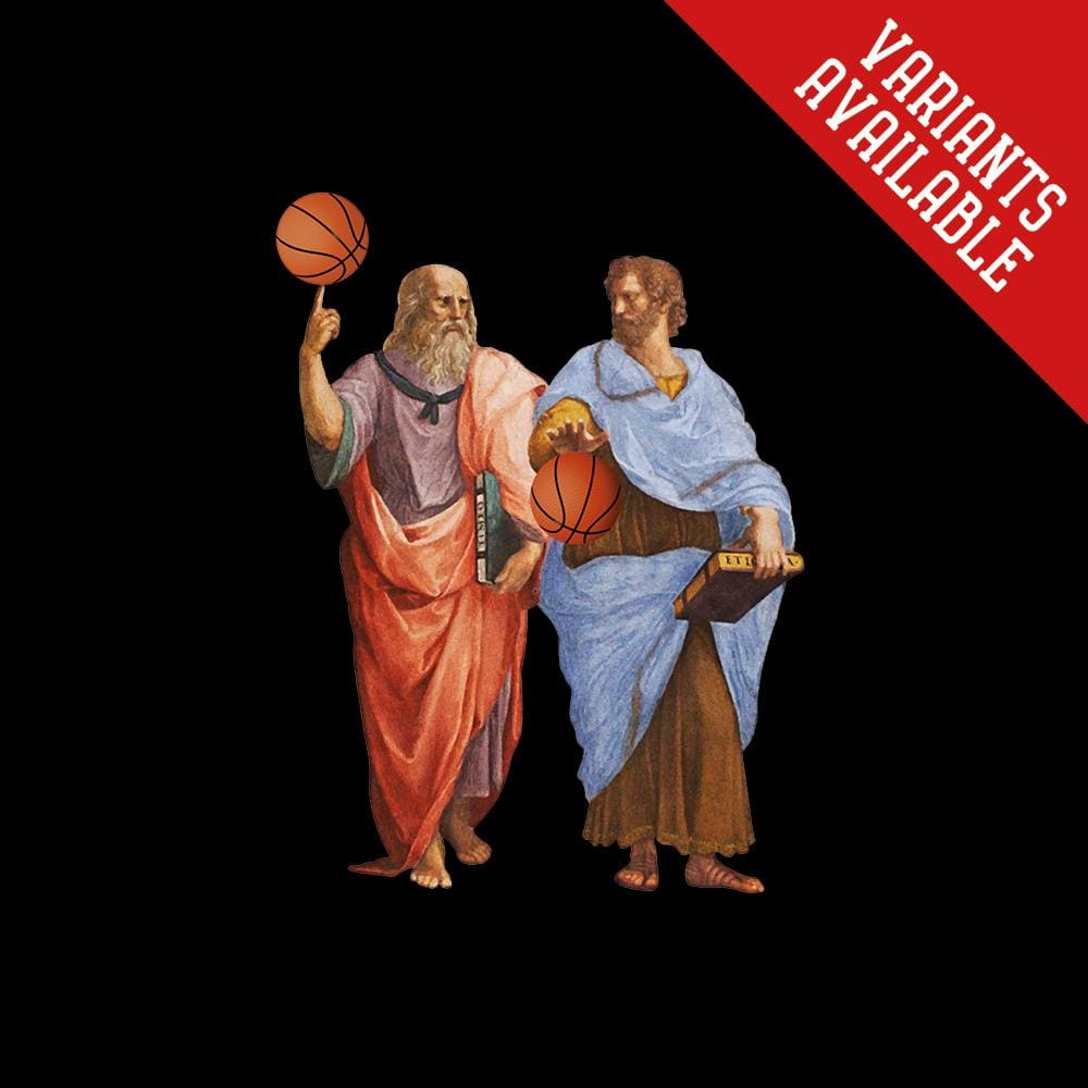 Aristotle and Plato with Balls