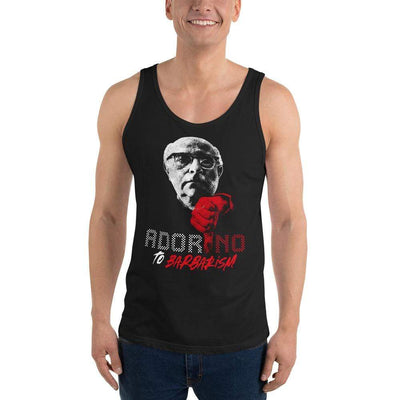 The Philosopher's Shirt ADOR-NO To Barbarism <br><br>Unisex Tank Top