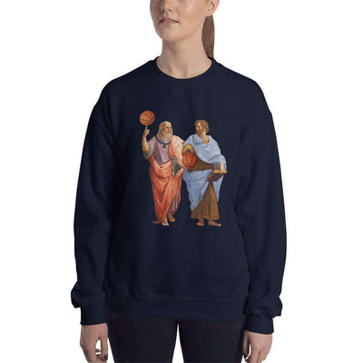 The Philosopher's Shirt Sweatshirt Aristotle and Plato with Basketballs