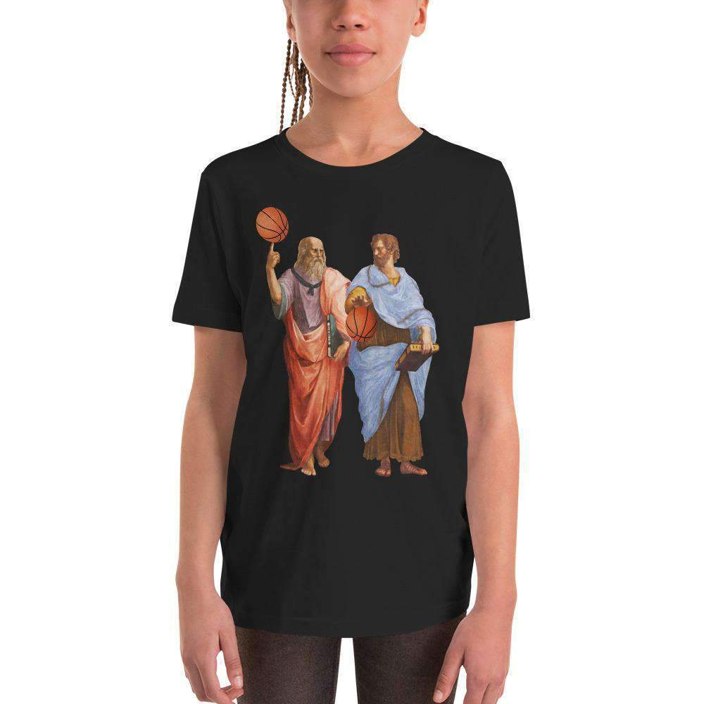 The Philosopher's Shirt Kids Shirt Aristotle and Plato with Basketballs
