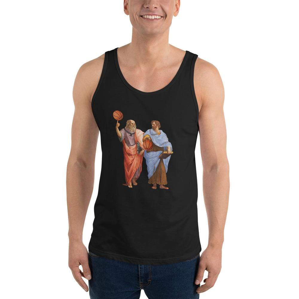 The Philosopher's Shirt Aristotle and Plato with Basketballs <br><br>Unisex Tank Top