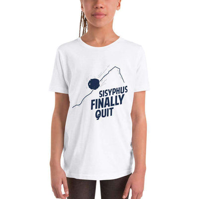 The Philosopher's Shirt Kids Shirt Camus - Sisyphus Finally Quit
