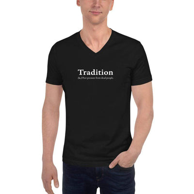 The Philosopher's Shirt Unisex V-Neck Shirt Definition of Tradition <br><br>Unisex V-Neck T-Shirt