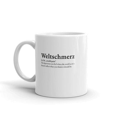 The Philosopher's Shirt Mug Definition of Weltschmerz <br><br>Mug
