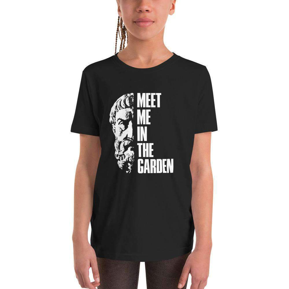 The Philosopher's Shirt Kids Shirt Epicurus Portrait - Meet Me In The Garden