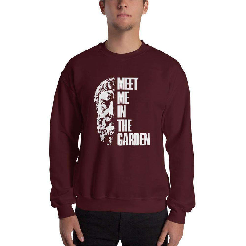 The Philosopher's Shirt Sweatshirt Epicurus Portrait - Meet Me In The Garden