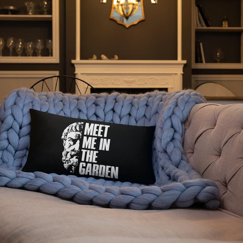 The Philosopher's Shirt Epicurus Portrait - Meet Me In The Garden <br><br>Pillow