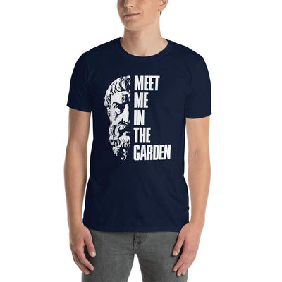 The Philosopher's Shirt Unisex Premium T-Shirt Epicurus Portrait - Meet Me In The Garden <br><br>Unisex Premium T-Shirt
