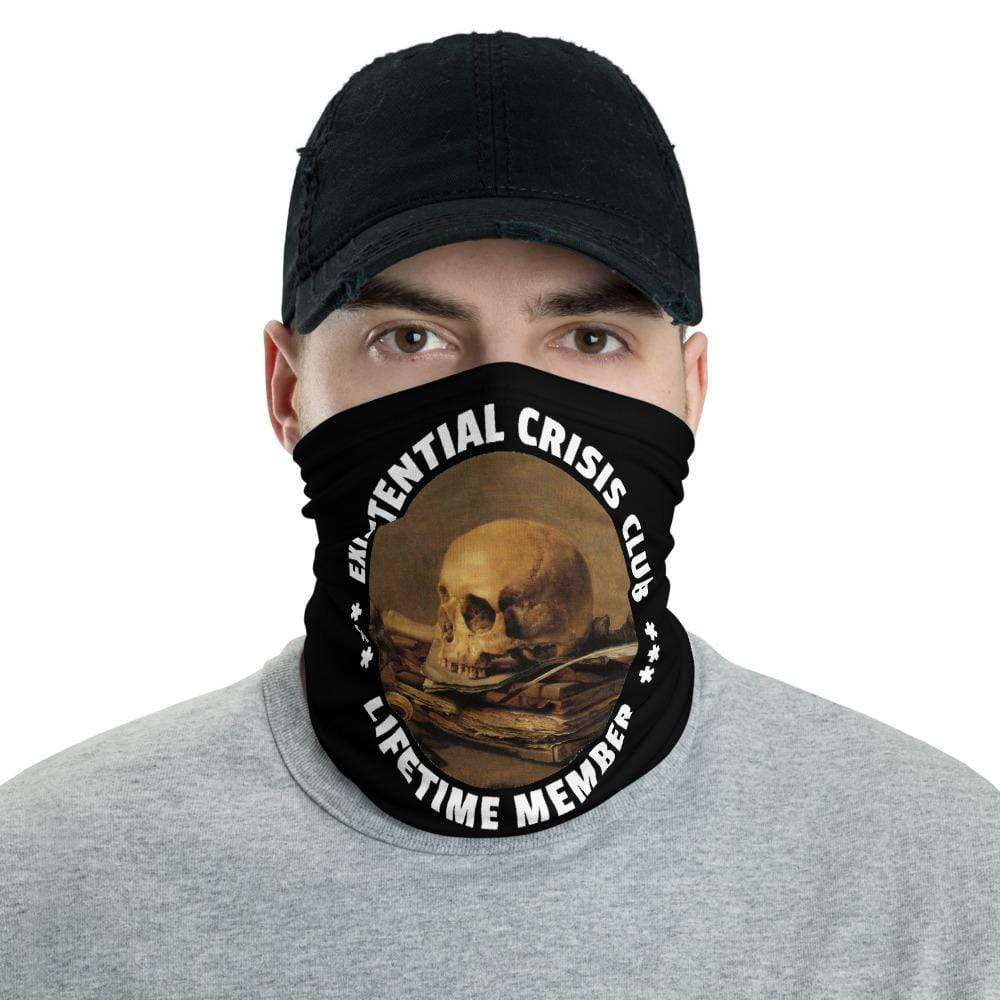 The Philosopher's Shirt Neck Gaiter Existential Crisis Club - Lifetime Member <br><br>Neck Gaiter