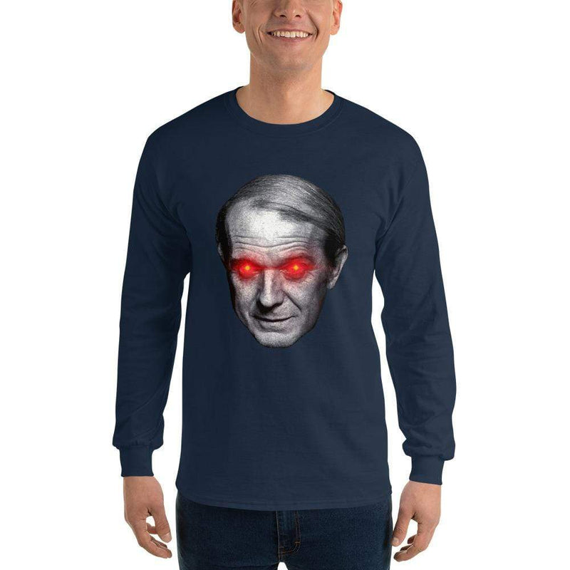 The Philosopher's Shirt Gilles Deleuze with Laser Eyes <br><br>Long-Sleeved Shirt