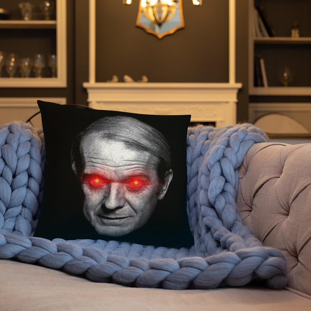 The Philosopher's Shirt Gilles Deleuze with Laser Eyes <br><br>Pillow