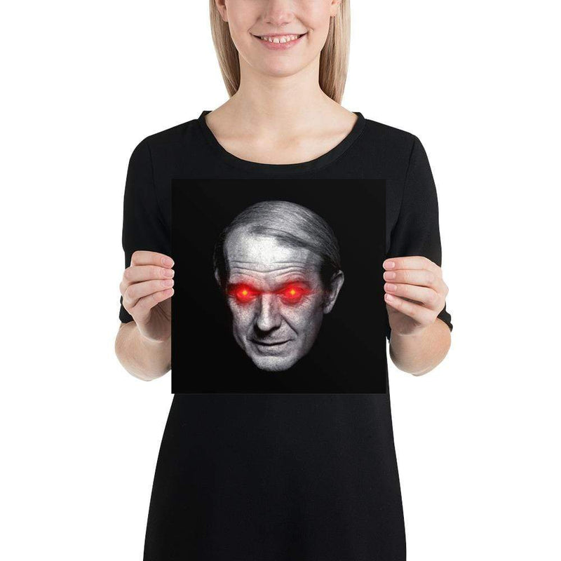 The Philosopher's Shirt Gilles Deleuze with Laser Eyes <br><br>Poster