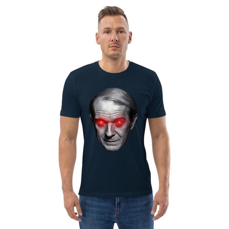 The Philosopher's Shirt Gilles Deleuze with Laser Eyes <br><br>Unisex Organic T-Shirt