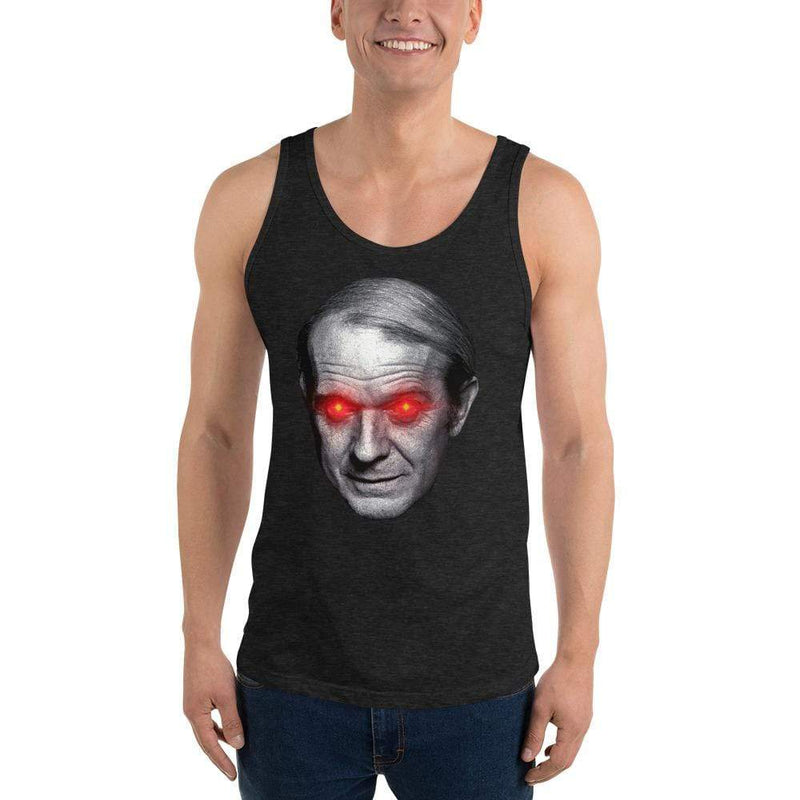 The Philosopher's Shirt Gilles Deleuze with Laser Eyes <br><br>Unisex Tank Top