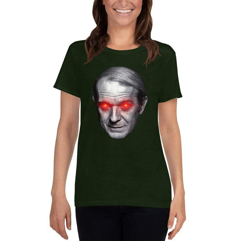 The Philosopher's Shirt Gilles Deleuze with Laser Eyes <br><br>Women's Loose Crew Neck T-Shirt