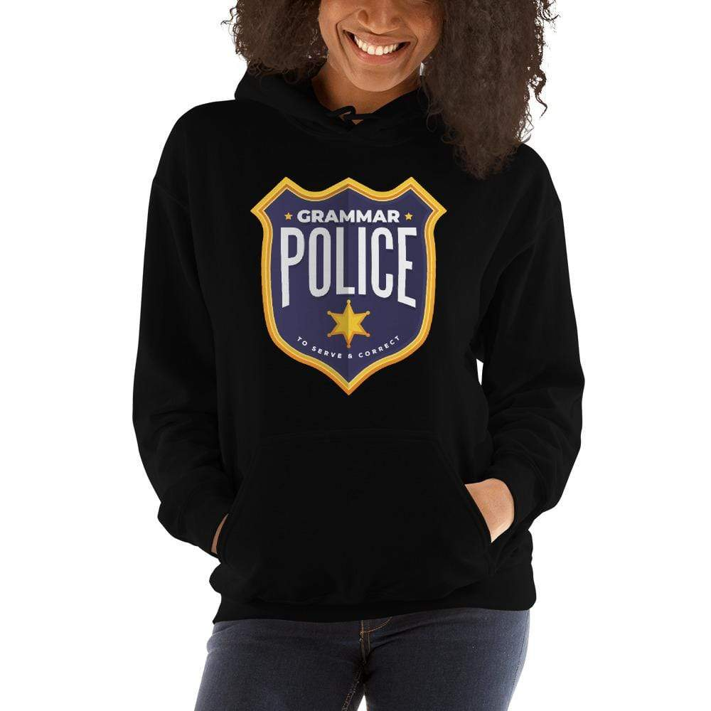 The Philosopher's Shirt Hoodie Grammar Police - To serve and correct <br><br>Hoodie