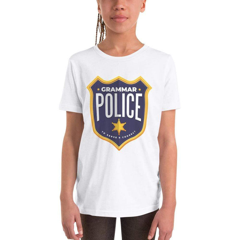 The Philosopher's Shirt Kids Shirt Grammar Police - To serve and correct <br><br>Kids T-Shirt