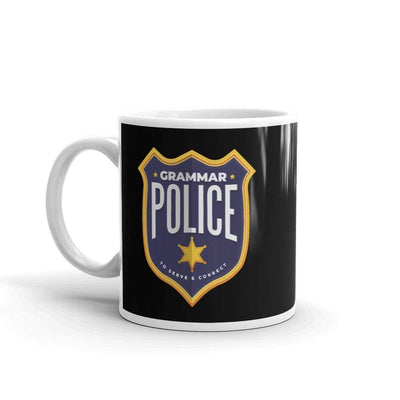 The Philosopher's Shirt Mug Grammar Police - To serve and correct <br><br>Mug