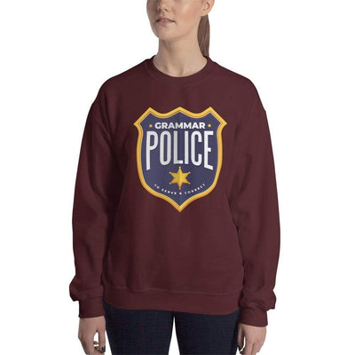 The Philosopher's Shirt Grammar Police - To serve and correct <br><br>Sweatshirt