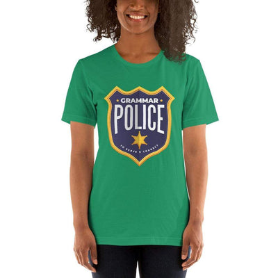 The Philosopher's Shirt Unisex Basic T-Shirt Grammar Police - To serve and correct <br><br>Unisex Basic T-Shirt