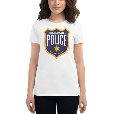The Philosopher's Shirt Women's T-Shirt Grammar Police - To serve and correct <br><br>Women's T-Shirt