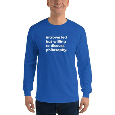 The Philosopher's Shirt Long-Sleeve Tee introverted but willing to discuss philosophy. <br><br>Long-Sleeved Shirt