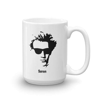 The Philosopher's Shirt Mug Kierkegaard Portrait with Sunglasses